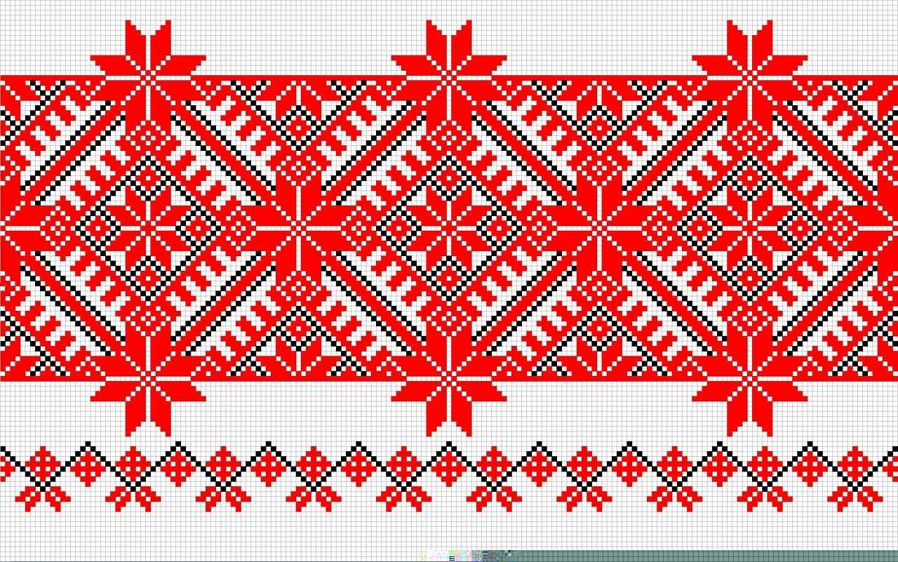 Старославянский узор вышивки